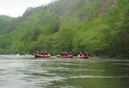 Half day river rafting
